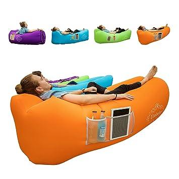 Amazon.com: Utebebe - Tumbona inflable de aire para sofá ...