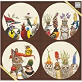 Paperproducts Design 603195 Forest Festivitiess Appetizer Plate Set, Multicolor