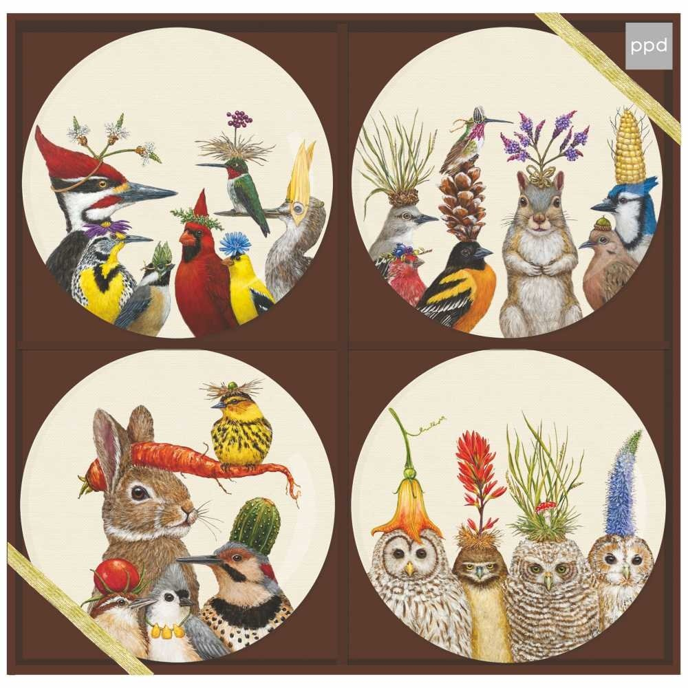 Paperproducts Design 603195 Forest Festivitiess Appetizer Plate Set, Multicolor by Paperproducts Design (Image #1)