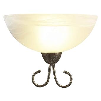 Lampenwelt Wandlampe Castila Dimmbar Landhaus Vintage Rustikal
