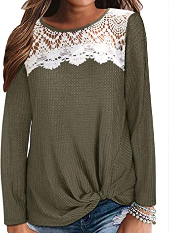 WYTong Women Casual Basic Top Long Sleeve Color Block T Shirt O-Neck Leopard Printed Tunic Blouse