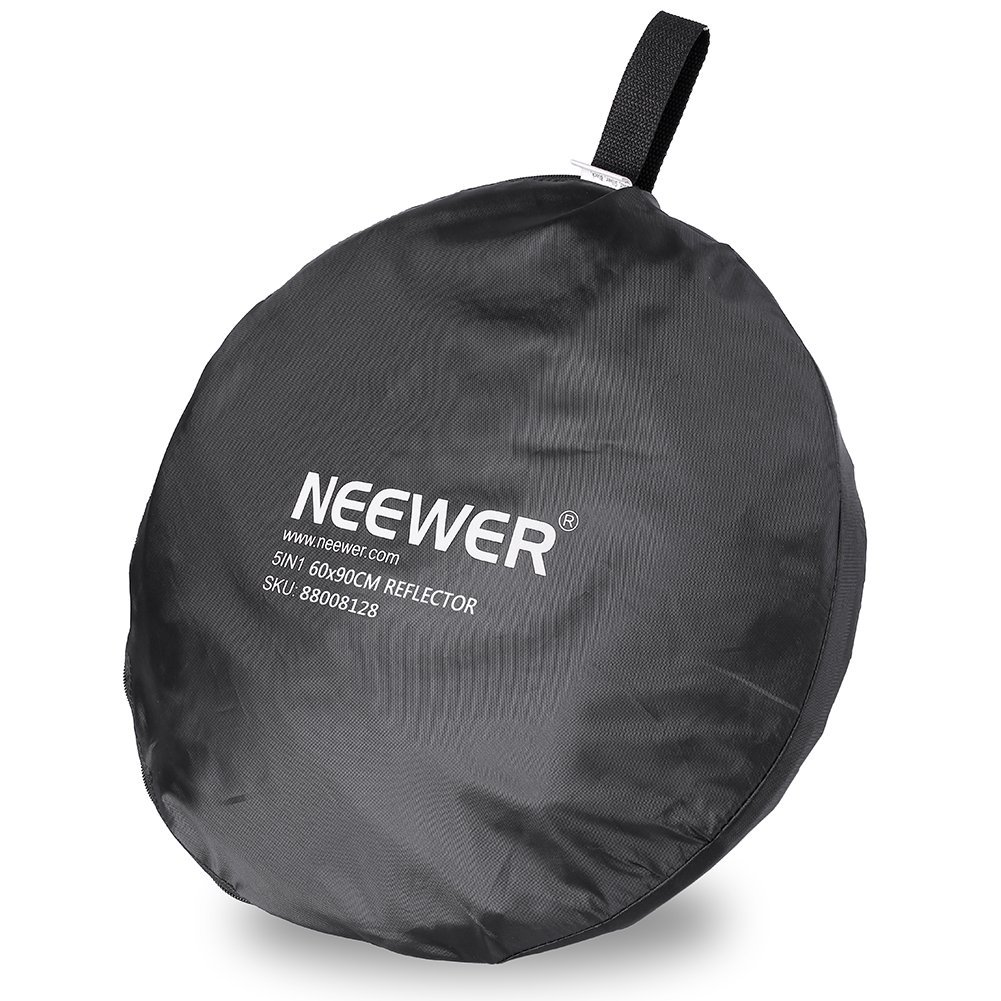 Neewer 5 in 1 Portable Round Collapsible Multi Disc Photography Lighting Reflector 24x36 inches//60x90centimeters with Carrying Case for Photo Studio Shooting