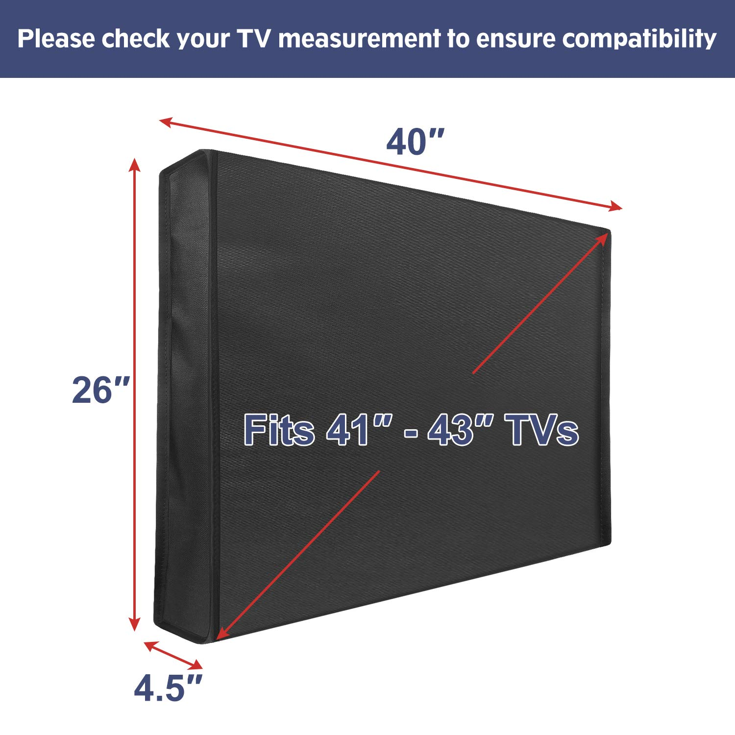 Waterproof and Dustproof TV Screen Protectors with Remote Control Pocket for Outside LED Outdoor TV Cover Weatherproof with Bottom Cover for 30-32 inch TV OLED Flat Screen TVs LCD Mounting Dream