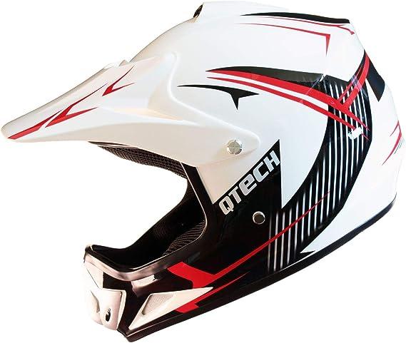 Small Qtech Childrens KIDS MOTOCROSS MX Style Helmet BMX Quad Bike Q101 Pink