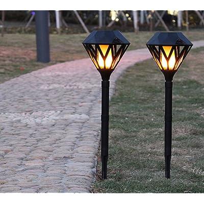 ZYW Lumières solaires solaires de 2 morceaux LED, lampe de mur extérieure, lumière de jardin lumineuse de LED imperméable à l'eau, éclairage de sécurité, grande lumi&egr