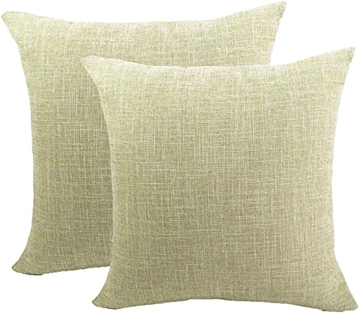Gspirit Funda cojin 2 Pack Decorativo Algodón Lino Throw Pillow ...