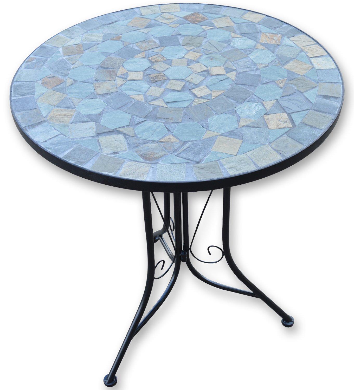 Woodside - Gartenmöbel-Set - Tisch und Klappstühle mit Mosaikdesign ...