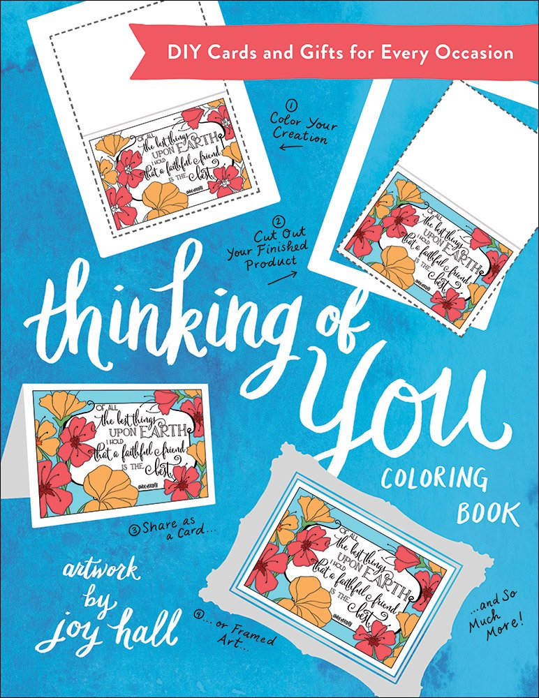 Amazon.com: Thinking of You Coloring Book: DIY Cards and Gifts for ...