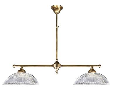Premium - Lámpara de techo de latón bronce 2 x E27 hasta 60 ...