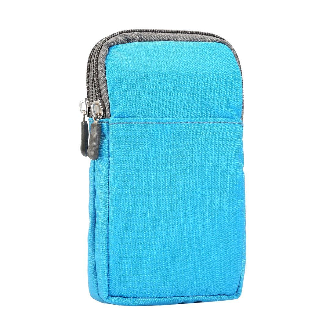 Pochette Téléphone, Mini Sac Bandoulière 6.0 pouces de stockage Nylon Sac Housse ceinture crochet epaule Sac Portefeuille Smartphones pour iPhone 6s/7 plus Samsung Galaxy S6 Edge/S7/S8 Huawei P10 plus bleu HuaForCity
