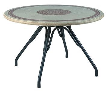 TABLE RONDE DE JARDIN PIERRE MOSAIQUE TEODOSIO D120: Amazon.fr ...