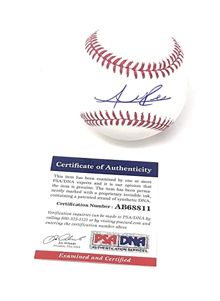 3e5a76cf7 Addison Russell Chicago Cubs Signed Autograph Official MLB Baseball PSA DNA  Authentic Certified