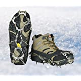 Crampon Micro spikes ice snow grips traction cleats System Safe Protect for Walking, Jogging, or Hiking on Snow and Ice, Uelfbaby