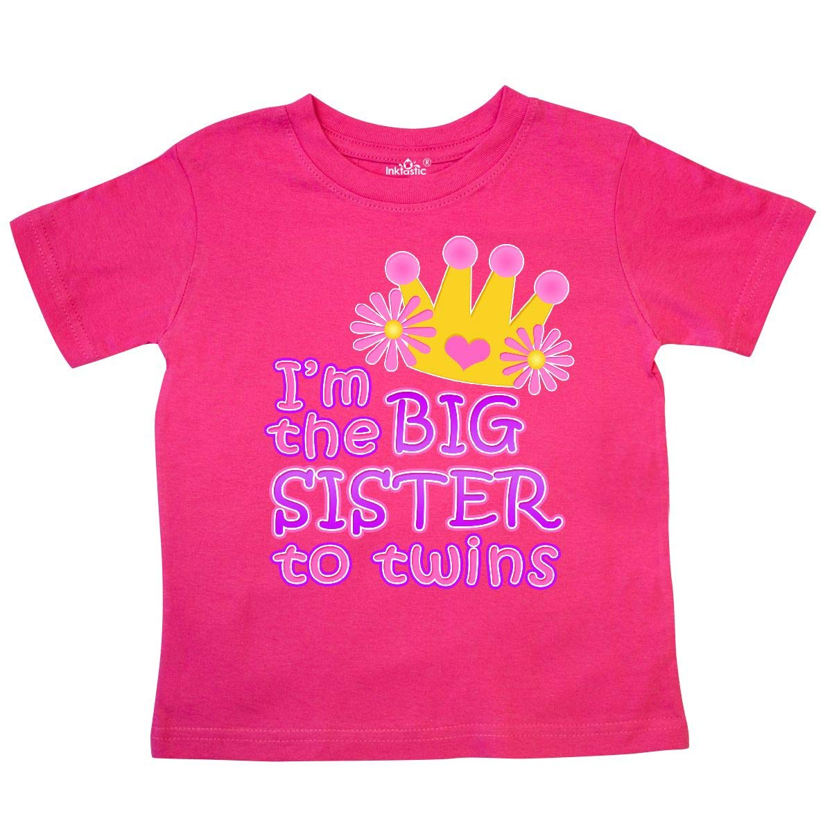inktastic Im The Big Sister to Twins Toddler T-Shirt