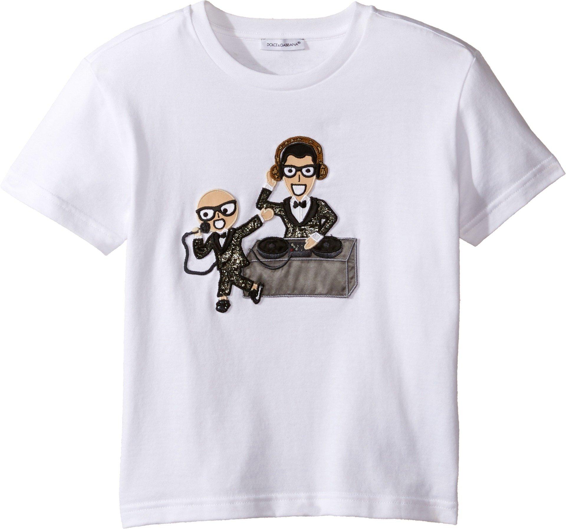 Dolce & Gabbana Kids Baby Boy's Designers Tee (Toddler/Little Kids) White Print T-Shirt