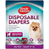 Simple Solution Disposable Dog Diapers for Female Dogs | Super Absorbent Leak-Proof Fit | Females In Heat, Excitable…