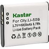 Kastar Battery Charger with Car Adapter for Olympus LI-50B LI50B LI-50C LI50C 202165 and Panasonic VW-VBX090 Pentax D-Li92 RICOH DB-100 CASIO NP-150 Kodax LB-050 LB-052 GE GB-50A
