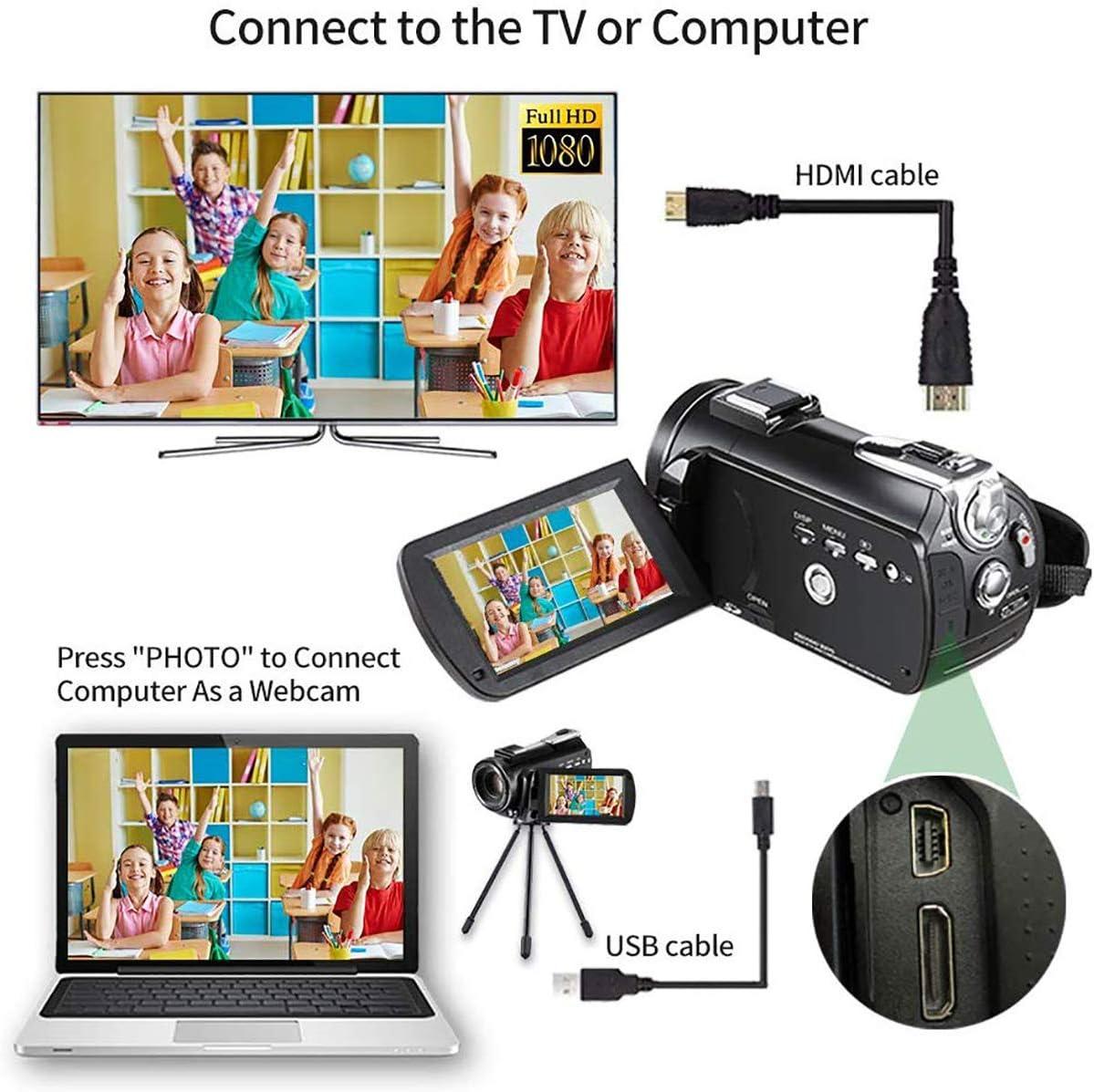 Estudiantes para Adultos//Mayores//Ni/ños ZORNIK C/ámaras Digitales Pink C/ámara Compacta 2.88 Pulgadas LCD Recargable HD 44 Megap/íxeles Zoom Digital 16x