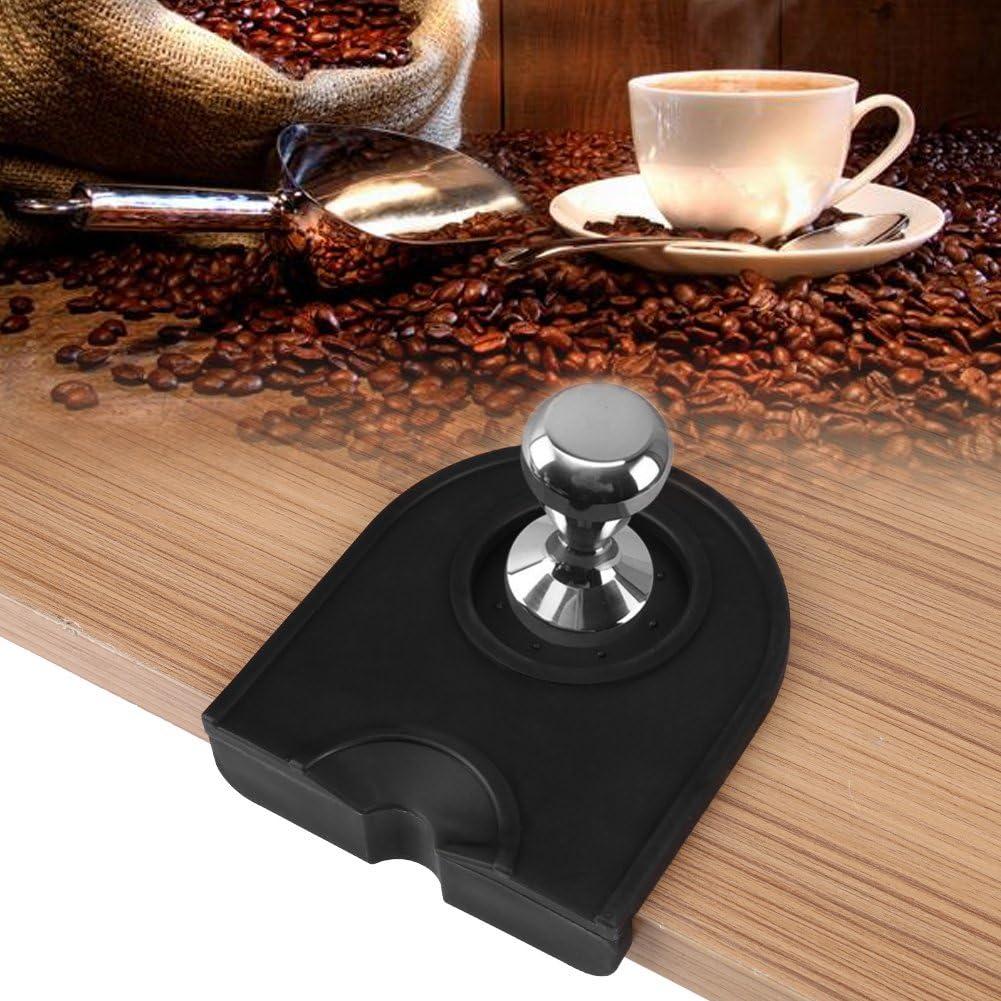 Almohadilla de Prensador de Caf/é Mat de Silicona de Tamper de Caf/é Coj/ín Antideslizante de Caf/é Black
