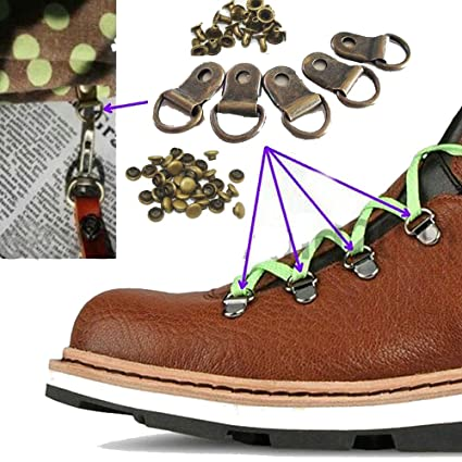 5d25b9d01c47d5 Amazon.com: (Pack of 20 Set)Metal Steel Buckles Rivet D Ring Shoe ...