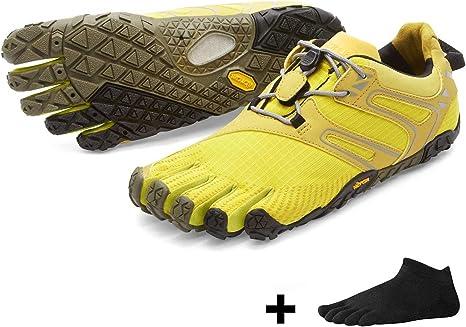 Vibram FiveFingers V de Trail Women – Set de Trail Running de exterior dedos guantes Calcetines de dedos con Gratis, Yellow / Black: Amazon.es: Deportes y aire libre