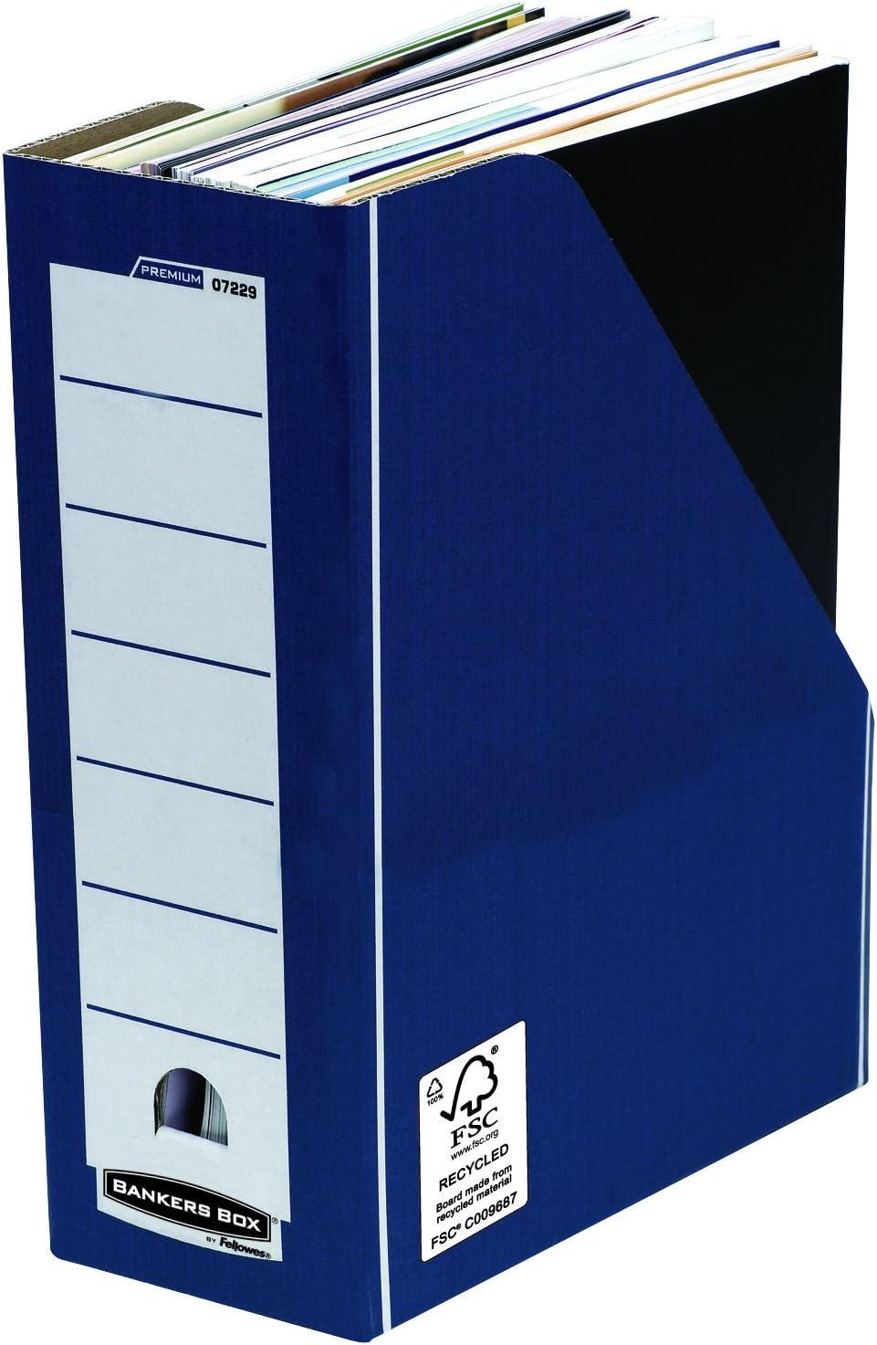 Bankers Box Premium Stehsammler 10 St/ück blau Fastfold System