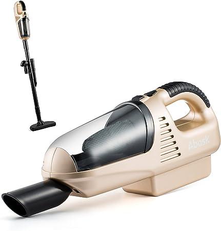 Aspiradora de mano, abask recargables mano dispositivo inalámbrico ligero Aspirador vertebral Wind Función 7.2 V 60 W 1800 mA 3.5 kPa de succión de 5 en 1 Accesorios de vacío Casa & Auto (Oro): Amazon.es: Hogar
