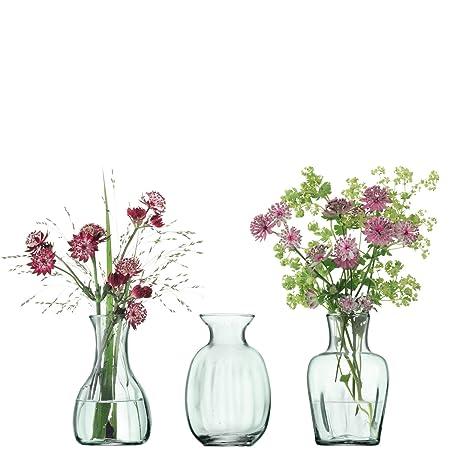 Lsa International Mia Mini Vase Trio H11cm Recycled Part Optic X 3