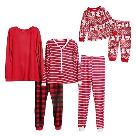 Conjunto pijama Papá Noel Assorti para todas la familia rojo par wongfon Talla:S1 (