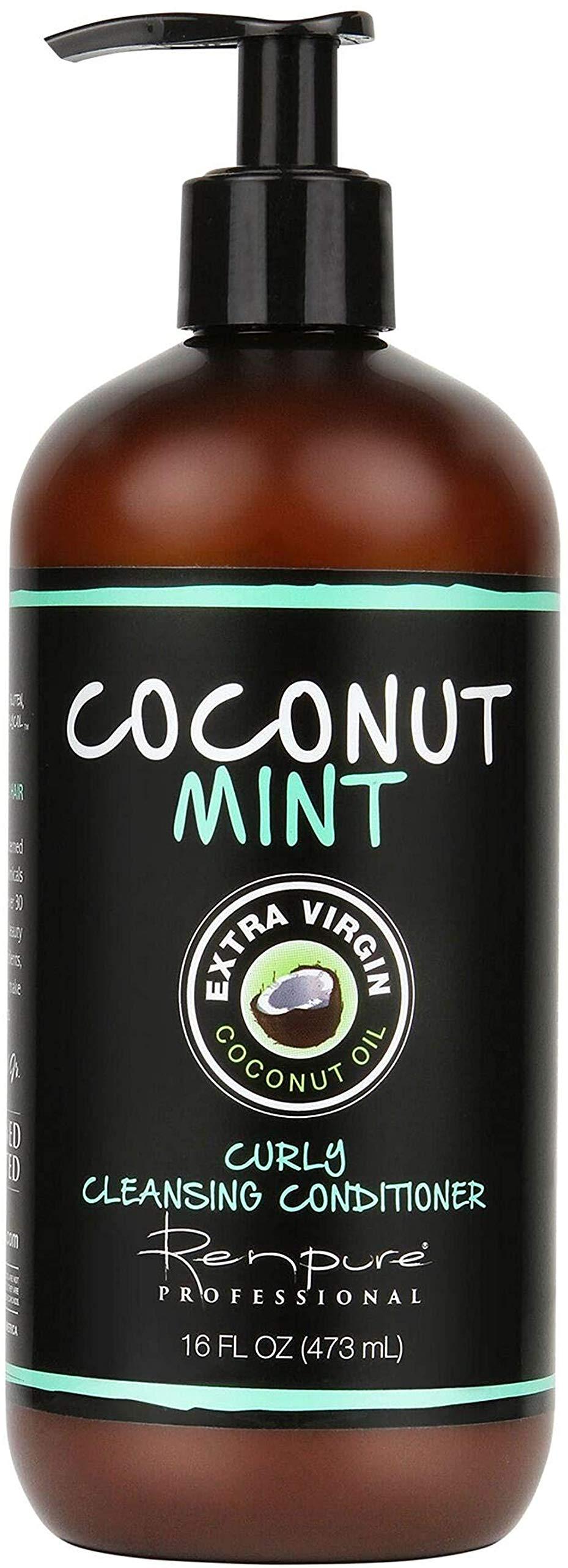 RENPURE Mint Cowash Cleansing Conditioner, Coconut, 16 Fl Oz