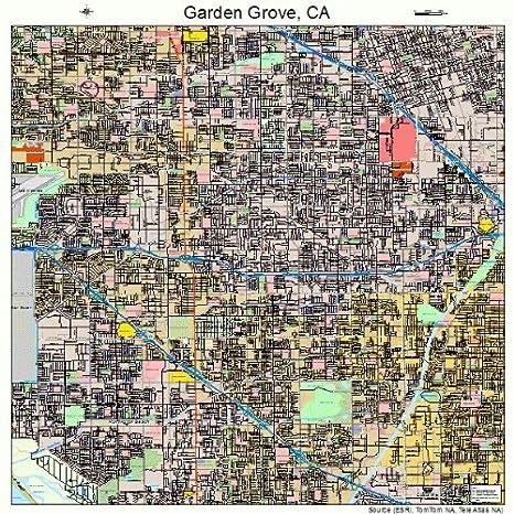 Amazon.com: Image Trader Large Street & Road Map of Garden ...