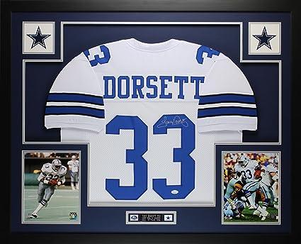 Tony Dorsett Autographed White Cowboys Jersey - Beautifully Matted and  Framed - Hand Signed By Tony 8178e2ca4