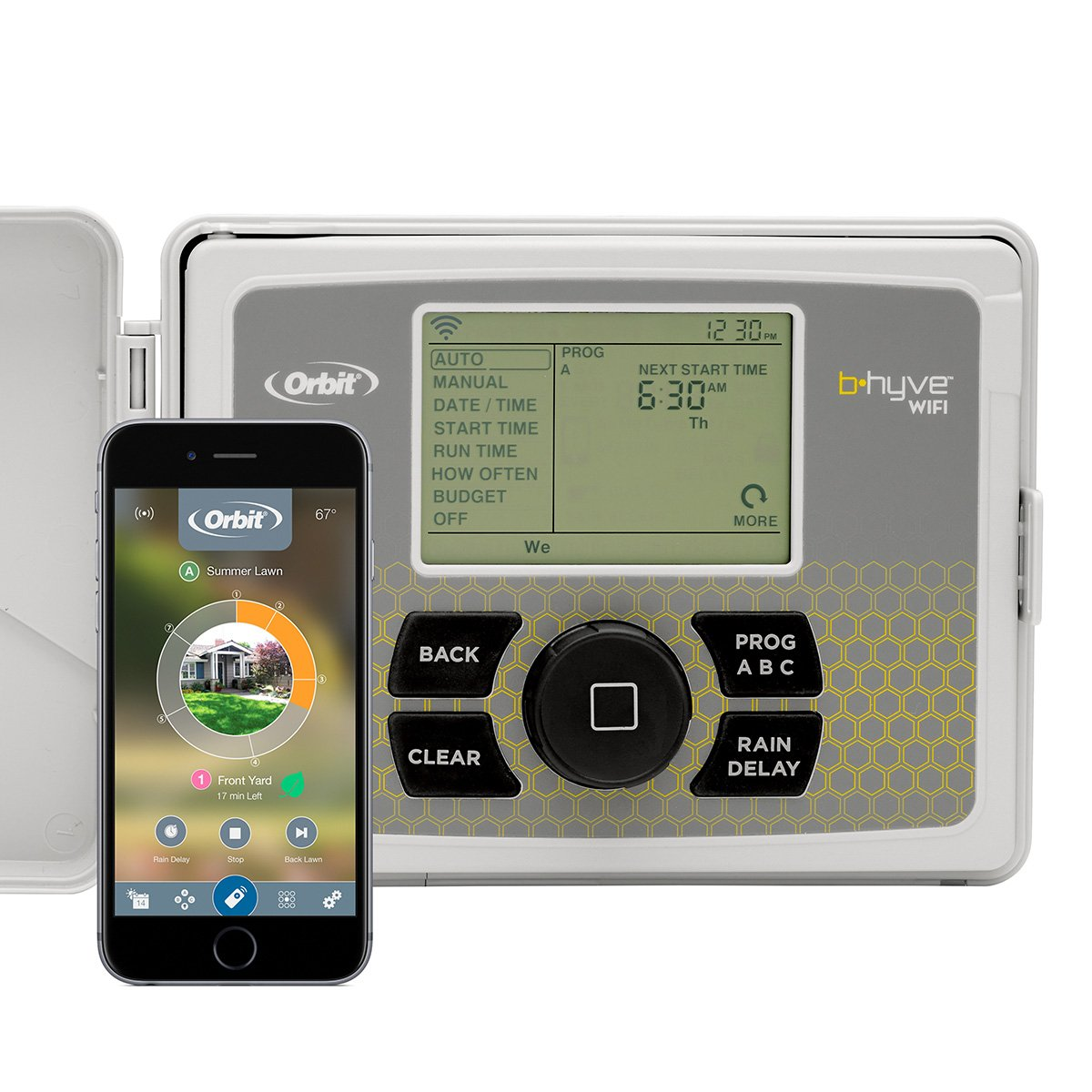Orbit 57946 B-hyve Indoor/Outdoor 6 Station WiFi Sprinkler System Controller:  Amazon.ca: Patio, Lawn & Garden