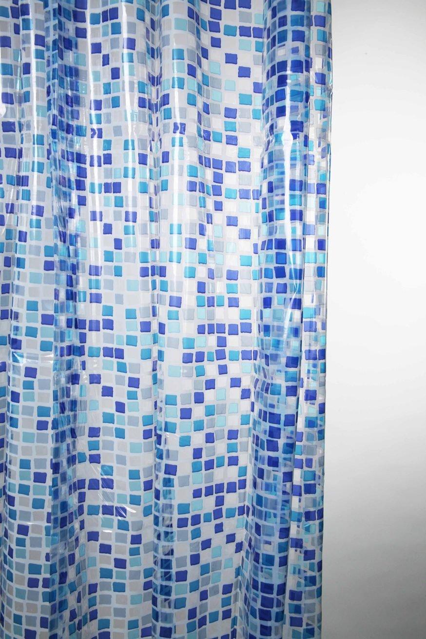 Blue Canyon Shower Curtains Peva Mosaic Shower Curtain: Amazon.co.uk ...