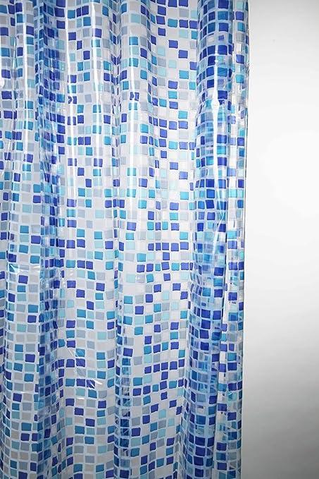 Blue Canyon Shower Curtains Peva Mosaic Curtain Amazoncouk Kitchen Home