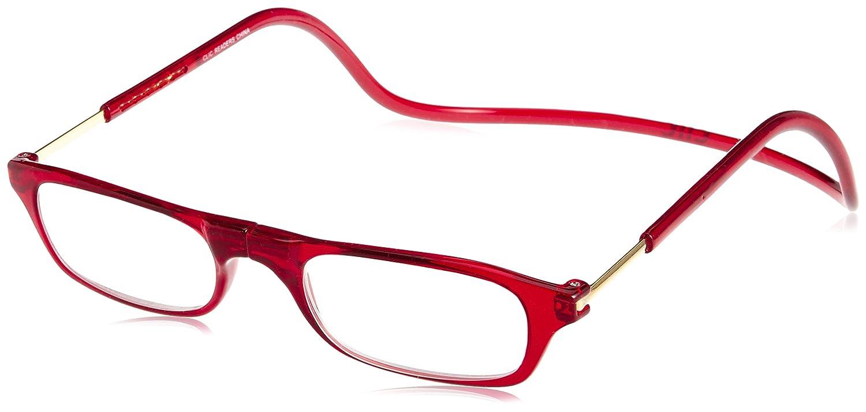 (クリックリーダー) Clic Readers 老眼鏡 B01N35OCOD 10.ブルーライトカット(度なし)|レッド レッド 10.ブルーライトカット(度なし)