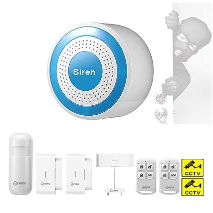 JC 433 mhz seguridad inalámbrica Diy sirena de alarma Standalone Kit Multifunción anfitrión de alarma con detector de movimiento PIR, puerta ...