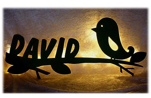 Schlummerlicht24 Led Groß-es Nacht-Licht Lampe Figur Design Birdy ...