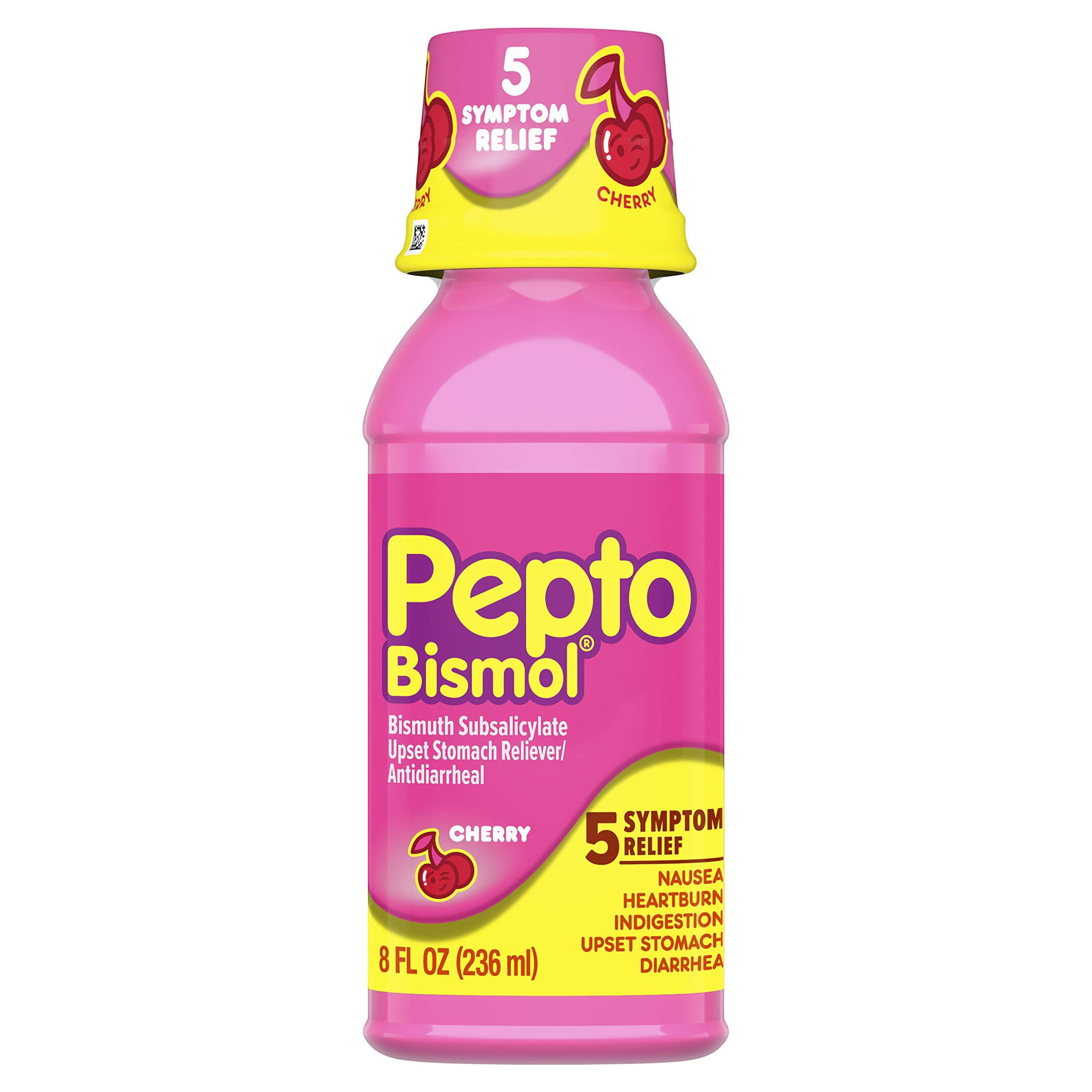 Pepto-Bismol Cherry Liquid 5 Symptom
