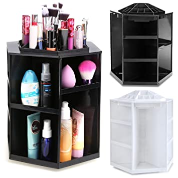 Mewalker 360 Degree Cosmetic Storage Box Rotating Makeup Organizers Multi-Functional Makeup Cosmetic Organizer  sc 1 st  Amazon.com : beauty storage boxes  - Aquiesqueretaro.Com