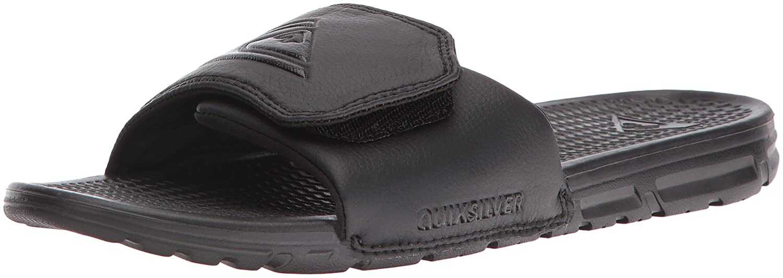 Quiksilver Men's Shoreline Adjust Walking Shoe, Solid Black, 11 D US Quiksilver Footwear