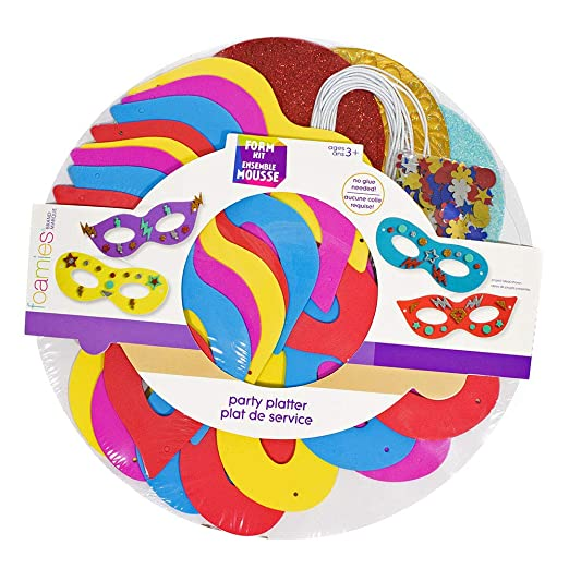 Really 16 Is Appropriate Age To Allow >> Amazon Com Mask Party Foam Kit Makes 16 Multicolored