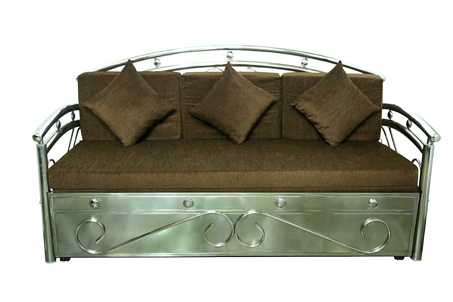 A1 Star Furniture King Size Steel Sofa Cum Bed And Hydraulic Storage