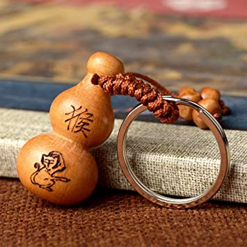 Red Wooden Ball and Monkey Fist Chain Necklace