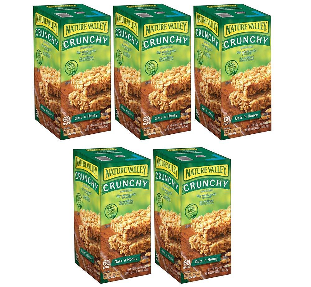 Nature Valley Oats 'N Honey Granola Bars, 60 Bars (5 Boxes)