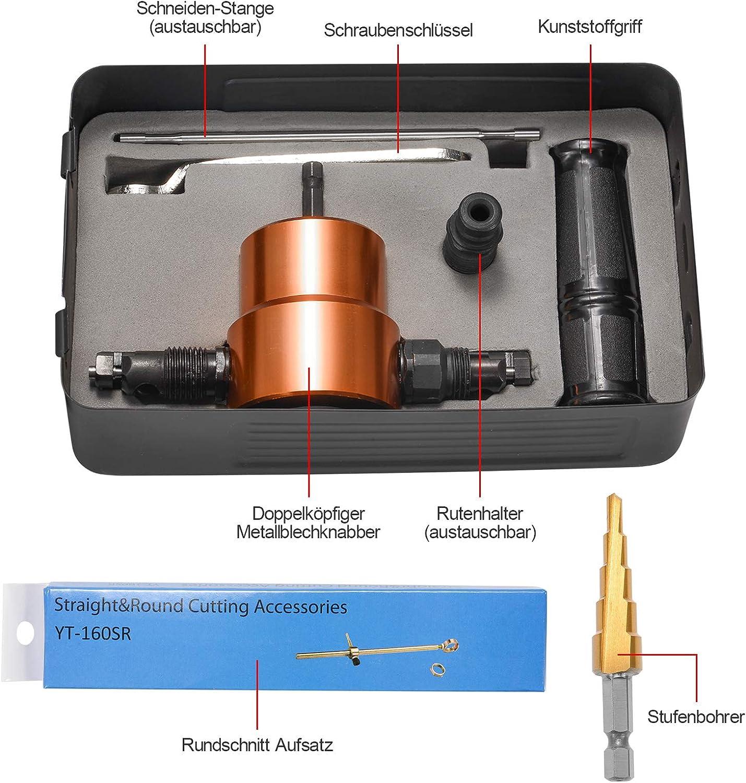 Blechknabber Vorsatz Für Bohrmaschine Stanze Knabber Metall Schneidwerkzeug