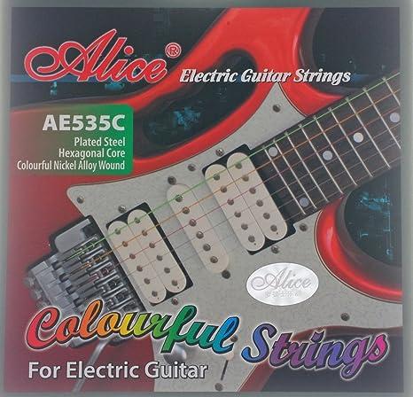 cuerdas de colores, cuerdas de guitarra para 535C guitarra eléctrica