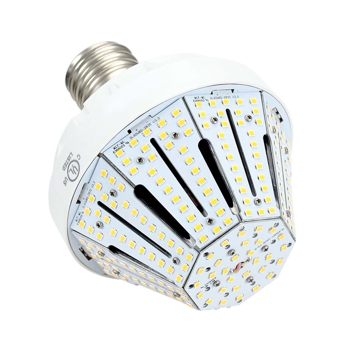 Phenas Garden Light LED Corn Bulb 60W (400-600 Watt Replacement), LED Street Light/Garden Lamp/Parking Lot, E39 Large Mogul Screw Base, 6000K Area Light, 360° Flood Light, UL-Listed, DLC-Qualified