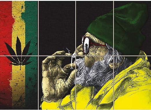 Amazon Com Marijuana Weed Old Man Smoking Giant Poster Print