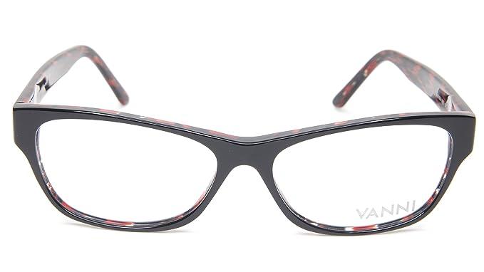 Amazon.com: Nuevo Vanni V 1874 A121 negro y rojo anteojos ...
